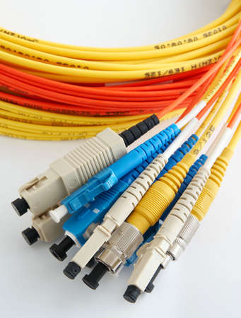 connectors: a few optical cables with different connectors which are convolute in a bay