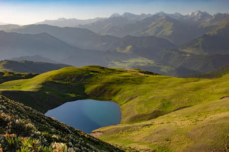 Oreti Lake landscape background.