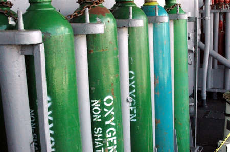 midway: Oxygen Tanks aboard the USS Midway Aircraft Carrier Museum