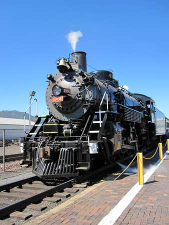 Steam Train in Williams, Arizona train station