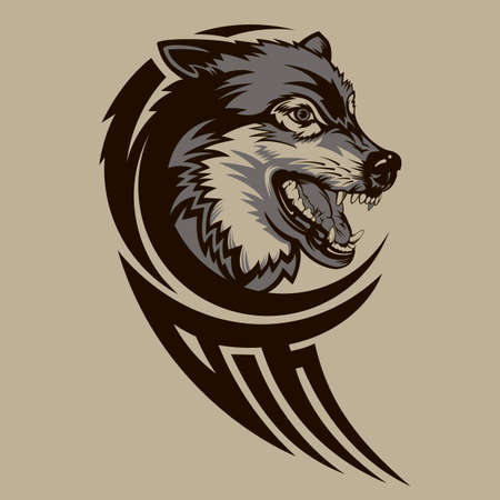 Vector illustration of a wolf