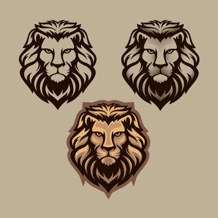 Lion head illustration  イラスト・ベクター素材