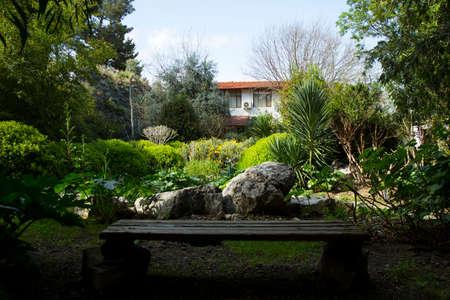 boutique hotel: Jardín diseñado hermosa de un hotel boutique