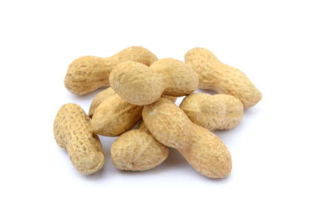 goober: Peanuts in shell isolated on white background