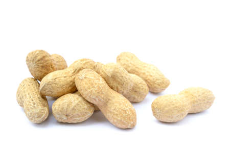 monkey nut: Peanuts in shell isolated on white background