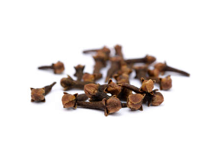 Fragrant spices cloves isolated on white background