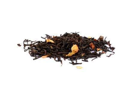 dollop: Healthy dollop of black tea isolated on white background Stock Photo