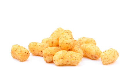 puffs: Peanut puffs isolated with white background