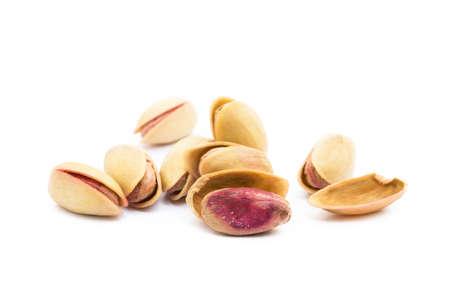 Pista of roasted pistachios isolated on white background Reklamní fotografie