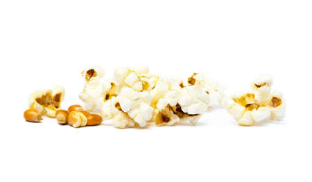 Cheese popcorn isolated on white background Stock Photo
