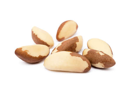 Para nuts isolated on white background Stock Photo