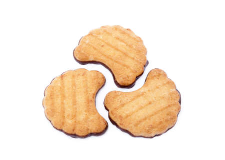Tasty biscuits isolated on white background