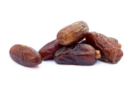 Dried sweet dates isolated on white background Stock Photo