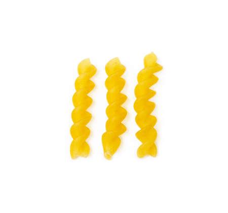 Traditional Italian pasta isolated on white background Banco de Imagens - 153122437