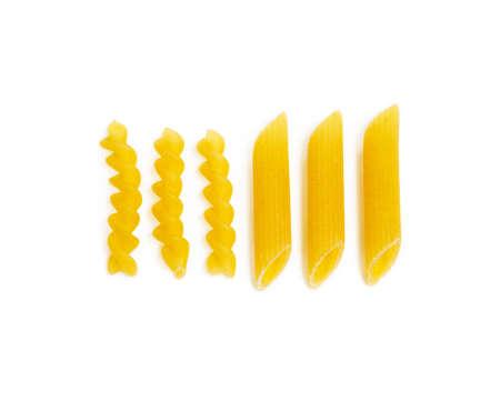 Traditional Italian pasta isolated on white background Banco de Imagens - 153122439