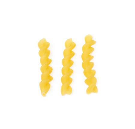 Traditional Italian pasta isolated on white background Banco de Imagens - 153962135