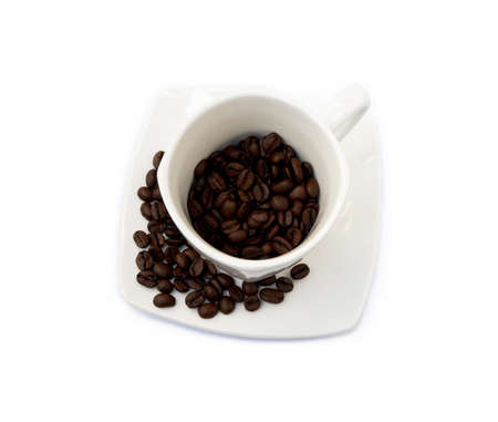 Cup of coffee isolated on white background Banco de Imagens - 154617751