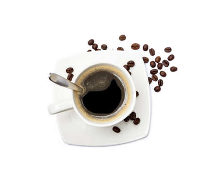 Cup of coffee isolated on white background Banco de Imagens - 156211957