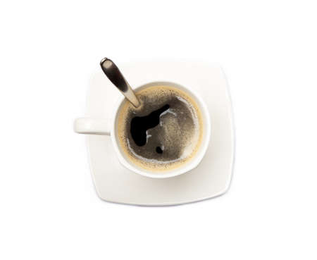 Cup of coffee isolated on white background Banco de Imagens - 156352987