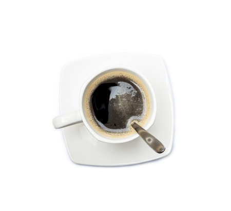 Cup of coffee isolated on white background Banco de Imagens - 156676192