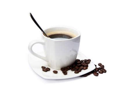 Cup of coffee isolated on white background Standard-Bild