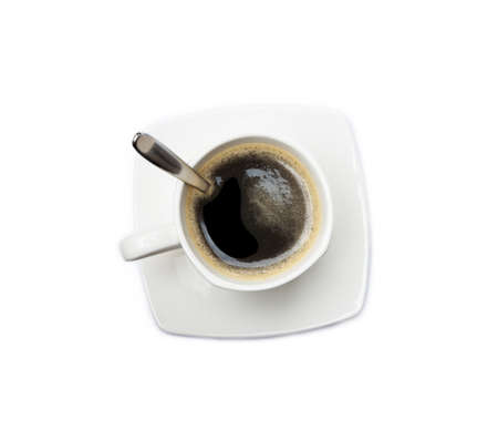 Cup of coffee isolated on white background Banco de Imagens - 157140202