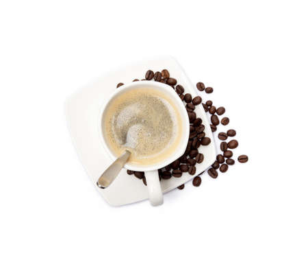 Cup of coffee isolated on white background Banco de Imagens - 157303310