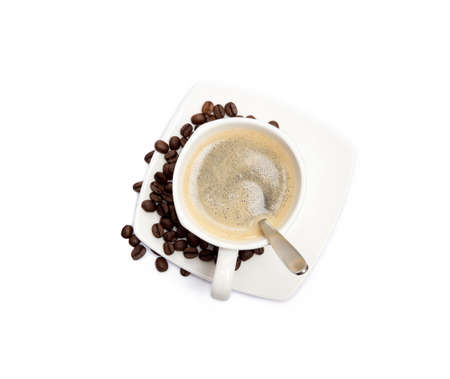 Cup of coffee isolated on white background Banco de Imagens - 157302829