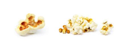 Fresh popcorn isolated on a white background