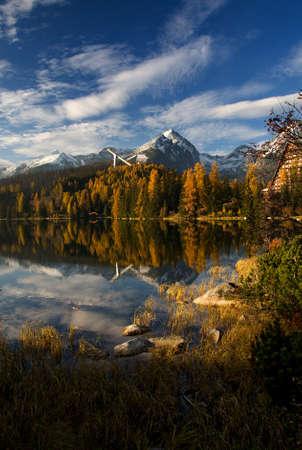 tarn: High Tatras - Strbske tarn Stock Photo
