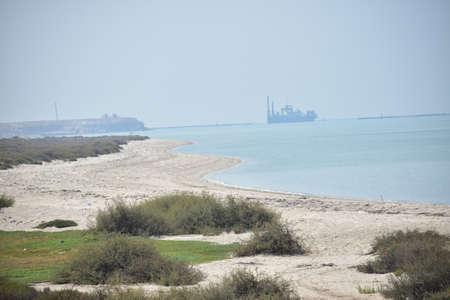 A view from dalma ferry boat jetty.Abu Dhabi,Uae.10.10.2020. Archivio Fotografico