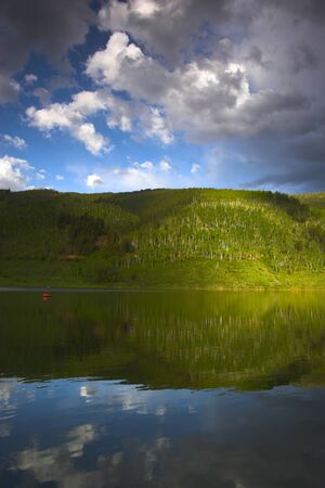 sylvan: Evening landscapes of Rocky Mountains in Sylvan Lake State Park