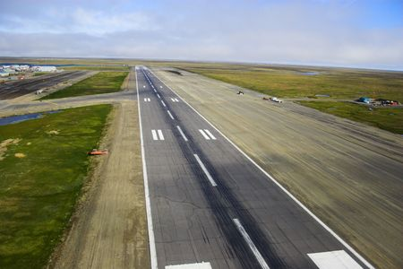 landing strip: Aerial photos of landing strip of the airport