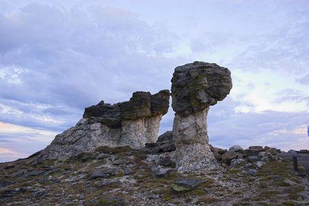 geological formation: Rare geological formation on the top of the Cordeliers Rockies