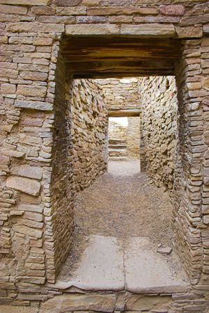 Ancient ruins of pre-historic Indian cultures of American southwest and surroundings, Chaco Culture National park