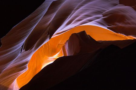 erosion: Red sandstone cave-like canyons made with water erosion