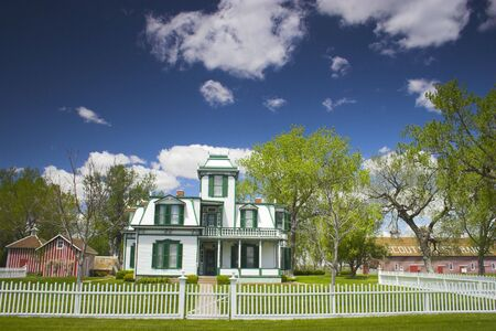 country house style: Farm and house of the famous Buffalo Bill near North Platte in Nebraska
