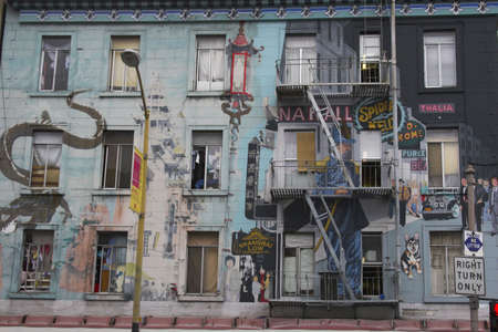 Fragment of colorful Chinatown street in San Francisco, California Stock Photo - 2430063