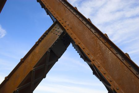 Metal abstracts of various bridges and ladders 免版税图像 - 2601892