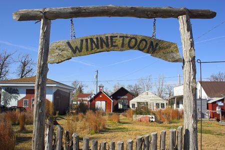 Fragment of historic farm town of Winnetoon photo