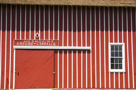 Farm shed of the famous Buffalo Bill near North Platte in Nebraska  photo