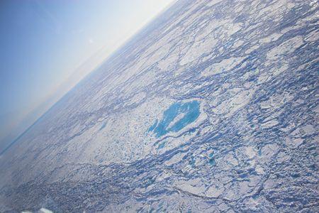 Aerial view of an Arctic Ocean Banco de Imagens