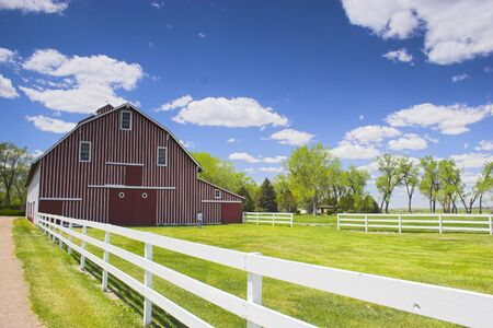 Farm shed of the famous Buffalo Bill near North Platte in Nebraska  photo