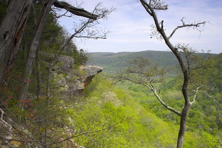 Famous cliff in Arkansas – symbol of the state Stock Photo