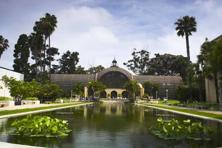 View of famous places in the Balboa Park in San Diego photo