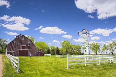 Farm shed of the famous Buffalo Bill near North Platte in Nebraska  Stock Photo