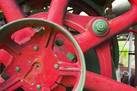Fragments of the vintage and industrial machines photo