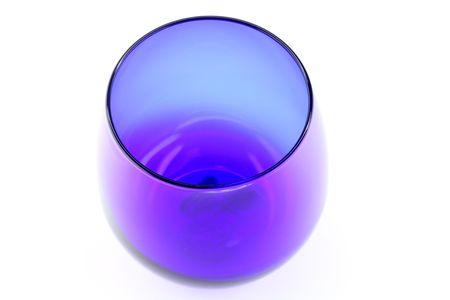 Blue cognac glass on the white background Stok Fotoğraf
