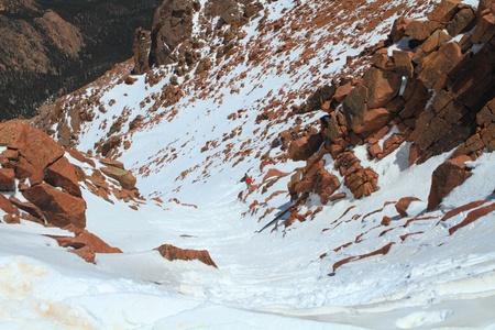 vistas: Snowy slopes of Pikes Peak Mountain and vistas in Colorado, USA