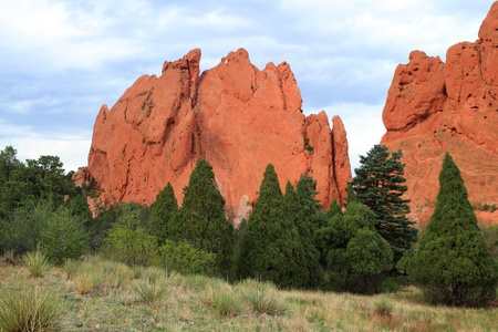 rock formation: Unusual rock formations in Garden of the Gods, Colorado, USA